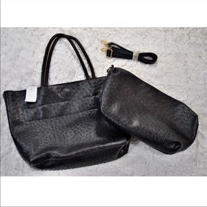 Handbags - NWT black tote and shoulder bag matching set